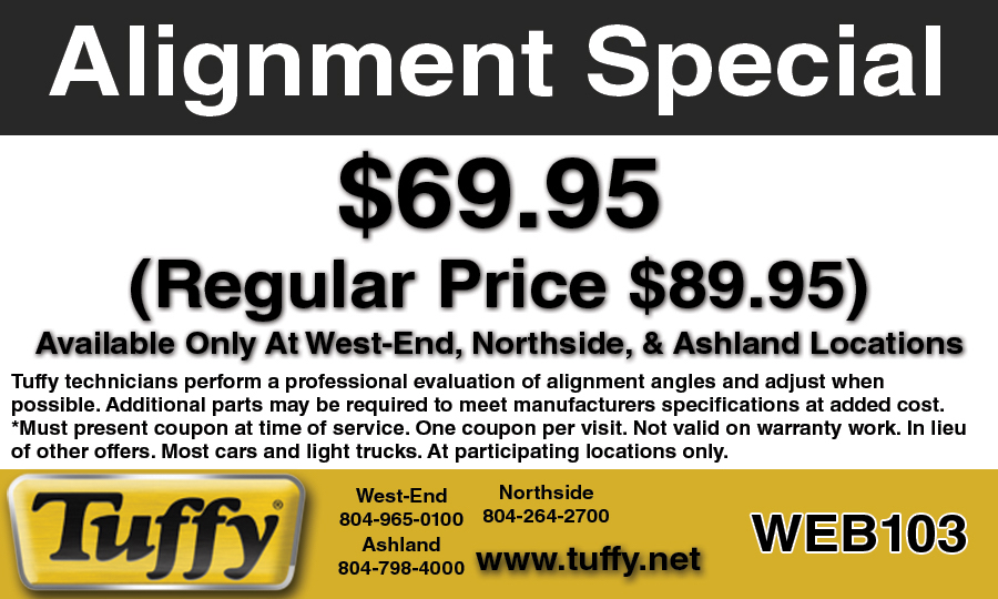 Promotions | Tuffy Auto Service Center Richmond Virginia